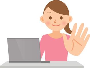 女性 PC