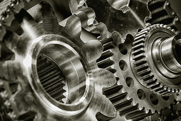 titanium and steel gears and  as aerospace and rocket parts
