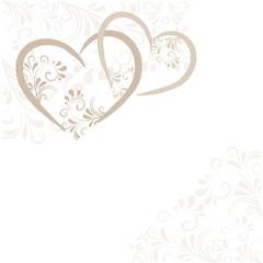 Hintergrund aus Ornamenten und Herzen