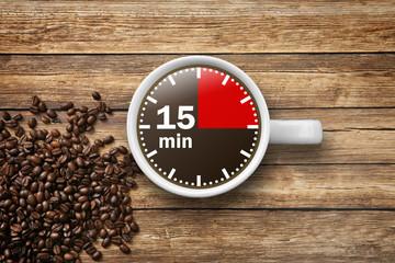 Fototapeta 15 min Kaffeepause obraz