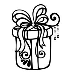 Ornamental Holiday Gift (Vector), Patterned design