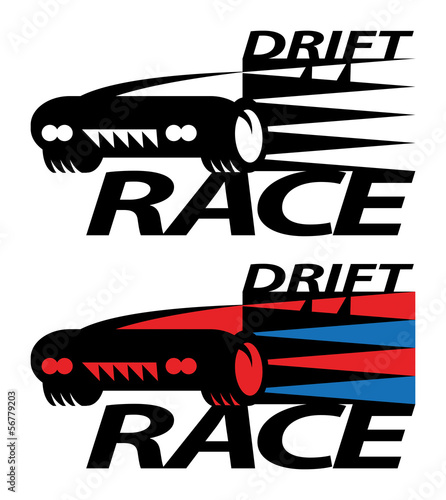Drift Race Sign Or Symbol Vector Illustration Stock Image And