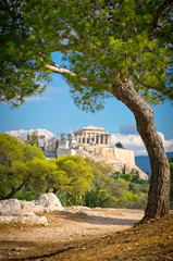 Poster Athens Beautiful view of ancient Acropolis, Athens, Greece