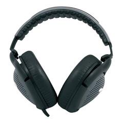 black and gray headphones