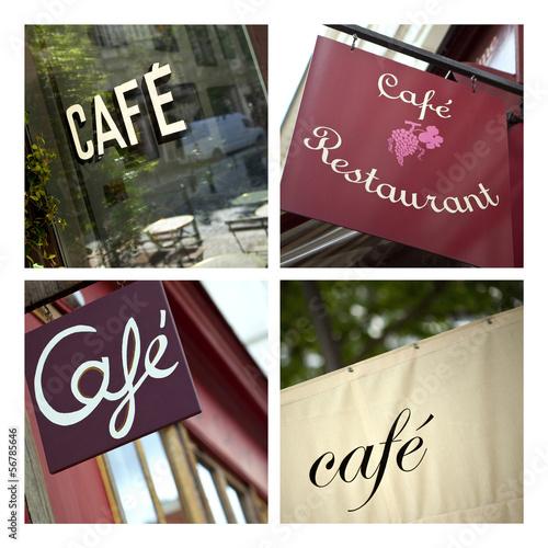 caf bistrot enseigne restaurant commerce fran ais photo libre de droits sur la banque d. Black Bedroom Furniture Sets. Home Design Ideas