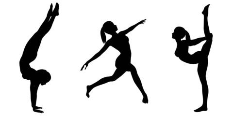 Female Gymnast Silhouettes - 2
