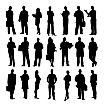 Business people on white background.