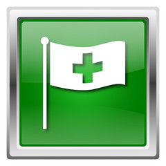 Cross flag icon
