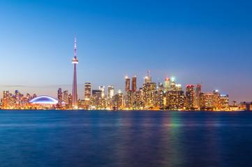 Toronto skyline after sunset
