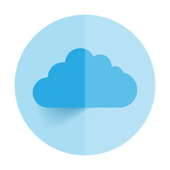 This image is a vector illustration representing a cloud