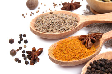 Foto op Plexiglas Kruiden 2 Various spices and herbs close up