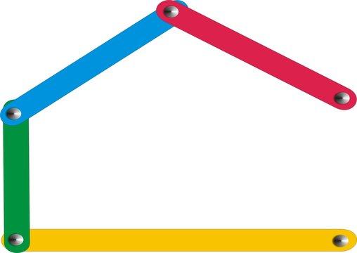 Kinder Farben Haus