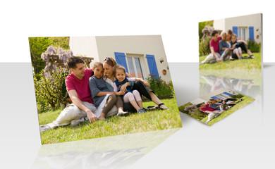 Tirage photo - photo de famille