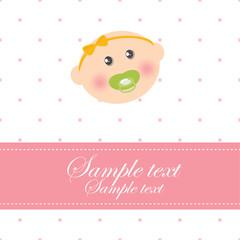 Newborn Baby Announcement Card