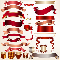 Collection of vector ribbons for design