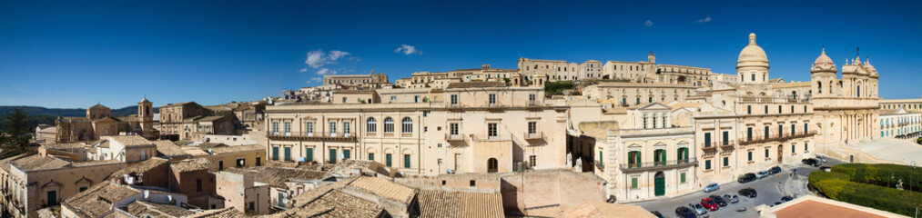 Panorama of the baroque city of Noto