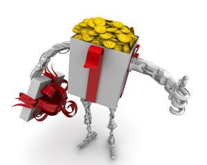 Деньги - лучший подарок. Концепция