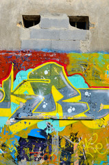 murales graffiti in genoa, italy
