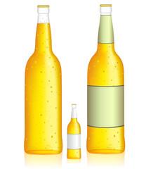 Bottle of beer. Low alcohol beverage. Vector illustration