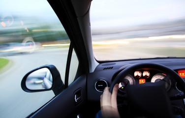 Fototapete - Danger fast drivin