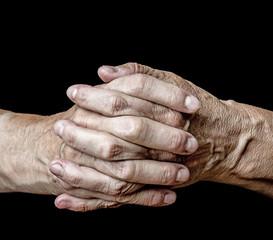 old senior hands