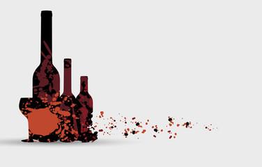 Wine menu card design background