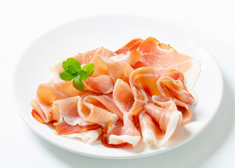 Thinly sliced prosciutto