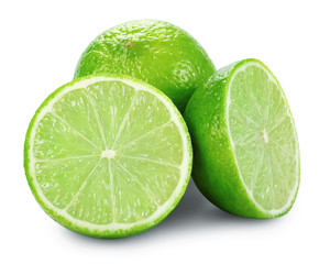 Lime with two halves