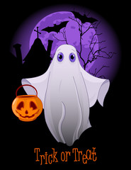 Trick or Treating Ghost