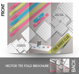 Dance Club Tri-Fold Mock up & Brochure Design
