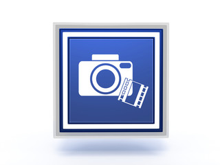 camera rectangular icon on white background
