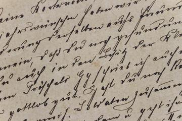 Ausschnitt eines alten Briefs