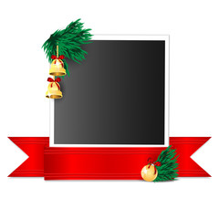 Christmas background.Photo emblazoned Christmas decorations and