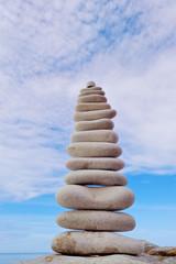 White stones balancing