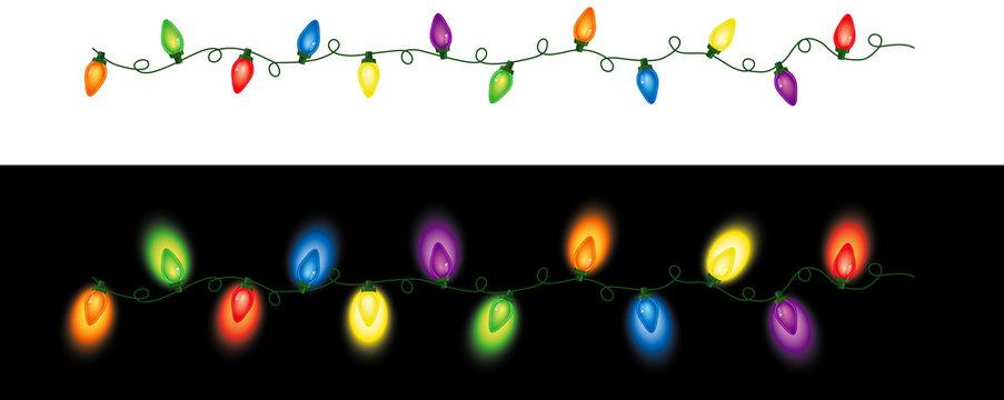 Colored Christmas Lights Repeating