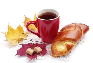 Bun and cup of tea