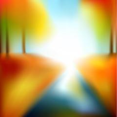 Blurry autumn illustration