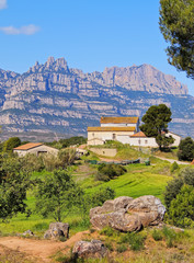 Cottage House in a way to Montserrat Mountain, Spain
