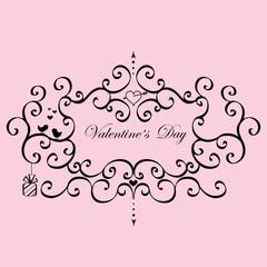 Vintage Frame Valentine's Day