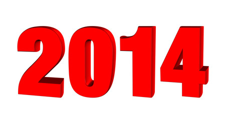 New year 2013, 3D text