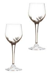 Coppia di bicchieri sfondo bianco