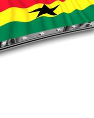 Designelement Flagge Ghana