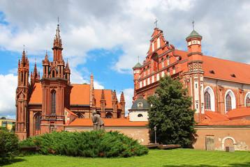 Autocollant pour porte Cracovie St. Anne's Church and the Church of St. Francis, Vilnius