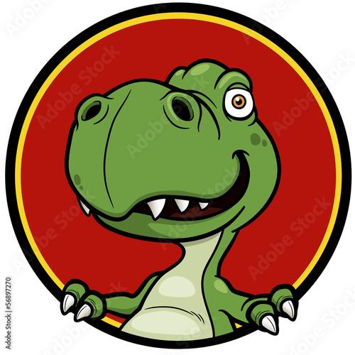 Vector illustration of Cartoon dinosaur