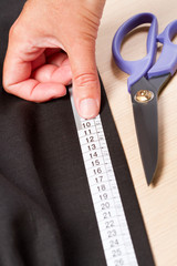 Fabric measuring