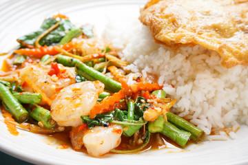 Close up shrimp spicy