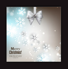 Holiday banner with ribbons. Vector background.