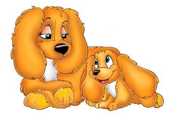 dogs cocker cartoons
