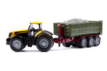 toy tractor with semi-trailer