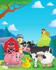 Farm animals theme image 4